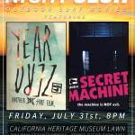 Globes Year Zero & Secret Machine at Night Sesh July 31st